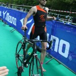 Transition de Boris Tomaszewski au Triathlon de Versailles 2013