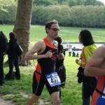 Alexis Deudon au triathlon de Versailles 2013