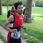 Nicolas au triathlon de Versailles 2013