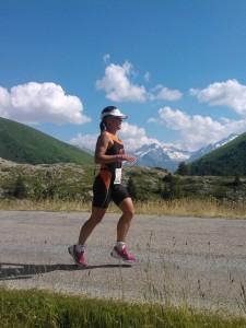 Charlotte Mathieu au triathlon de l'Alpes d'Huez