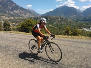 Embrunman 2013 - Charlotte Mathieu à vélo