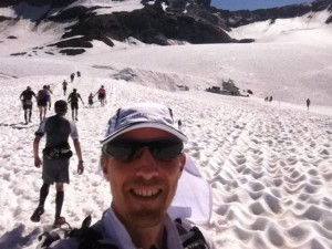 Ronan Lumbroso sur le glacier de bellecote