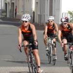 Equipe femmes ACBB Triathlon sur le vélo