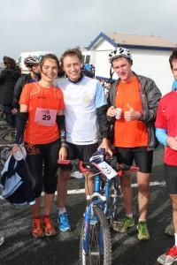 Christine, Alexis et Charles au Bike and run du Touquet 2013