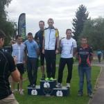 Podium du format aventure du raid val d'oise 2013, victoire ACBB Triathlon