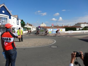 Guillaume Bous en capitaine attentif de l'équipe ACBB Triathlon