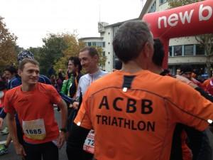 Benoit, Ronan et Denis au semi-marathon de Boulogne Billancourt 2013