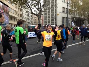 Carine au semi-marathon de Boulogne 2013