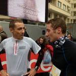 Ronan et Pierre à l'arrivée du semi de Boulogne 2013