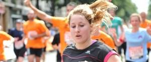Sabine au 10 km de l'Equipe 2014