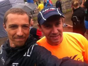 Ronan et Jean-Christophe au trail du Muguet