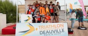 Podium au triathlon de Deauville 2014