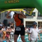 Arrivée du triathlon de Mimizan