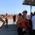 Clémence au triathlon de Mimizan