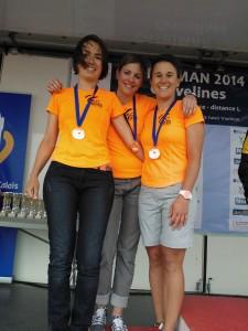 Féminines ACBB vice championne de France de triathlon Longue Distance