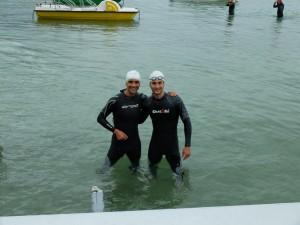 Adrien et Matthieu au triathlon d'Annecy
