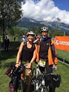 Dyder et Sophie au triathlon du Mont-Blanc