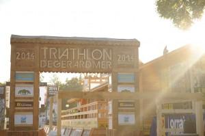 Arrivée du triathlon de Gérardmer 2014