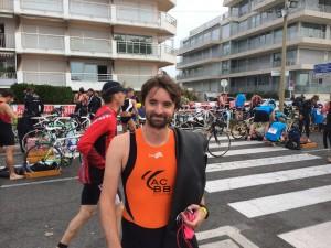 Au départ du triathlon de la Baule 2014