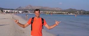 Christophe à l'ironman de Majorque
