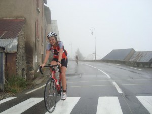 Camille au triathlon de l'Alpe d'Huez