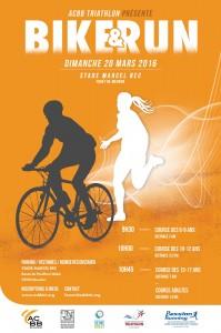 Affiche du Bike and Run de l'ACBB Triathlon le 20 mars 2016
