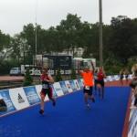 Arrivée de Gabriele au Triathlon de Paris 2016