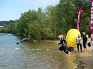 Départ du triathlon de Verneuil 2016
