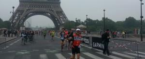 Sur le pont d'Iéna - Triathlon de Paris 2016