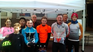 Les jeunes au départ de la Cyclo Fernand Leroy 2016