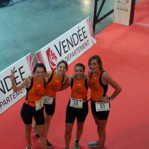 Féminines à la coupe de France des clubs de triathlon 2016