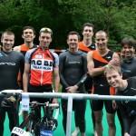 Les garçons de l'ACBB Triathlon au triathlon de Versailles 2013