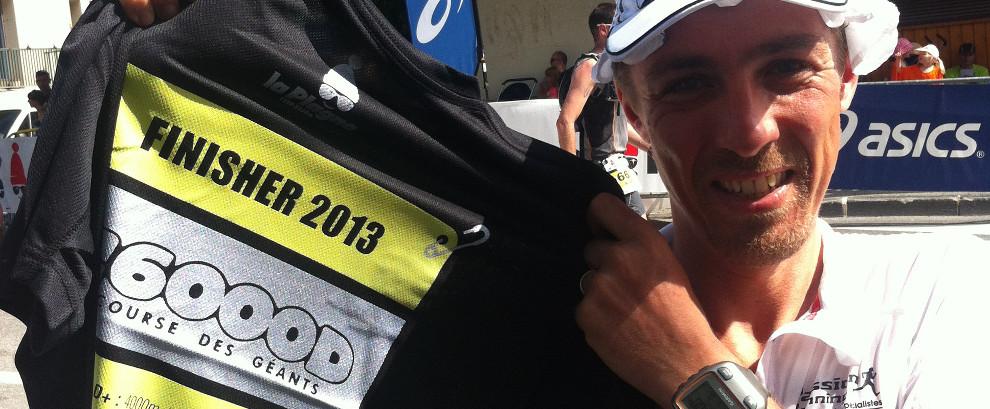 Ronan Lumbroso finisher au trail de la 6000D