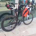 Vélo de chrono de Pierre Mavier pour le Half Ironman du pays d'Aix