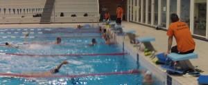 Entraînement natation de l'ACBB Triathlon