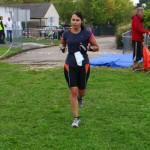 Nelly Thuillier au triathlon de Nemours