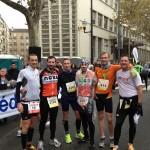 ACBB Triathlon à l'arrivée du semi-marathon de Boulogne Billancourt 2013