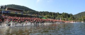 Départ du triathlon de Gérardmer 2014
