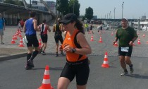 Claire au Triathlon de Paris 2015