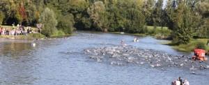 Départ du triathlon de Villeveque