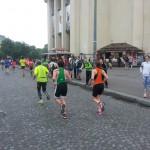 Carine au Trocadéro pendant la course à pied du tri de Paris 2016