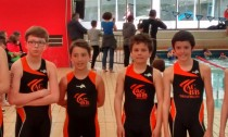Les jeunes de l'ACBB Triathlon à l'aquathlon de Paris 2016