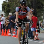 Stéphane sur la partie vélo de l'ironman de Nice