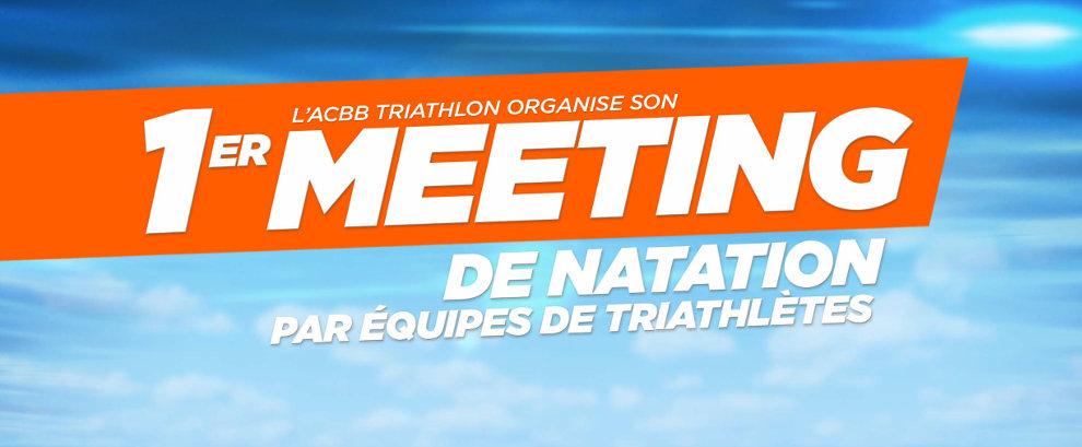 Meeting de natation par équipes de triathlètes