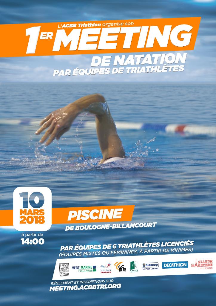 Meeting de natation en équipe pour triathlètes
