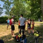 Briefing des jeunes au triathlon des Mureaux
