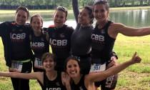 Les féminines avant le départ du triathlon de Versailles
