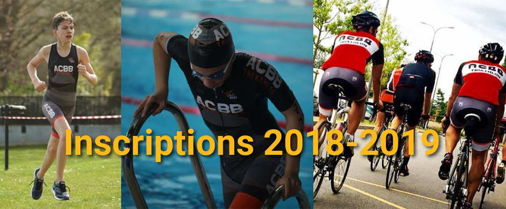 Inscriptions Triathlon 2018-2019