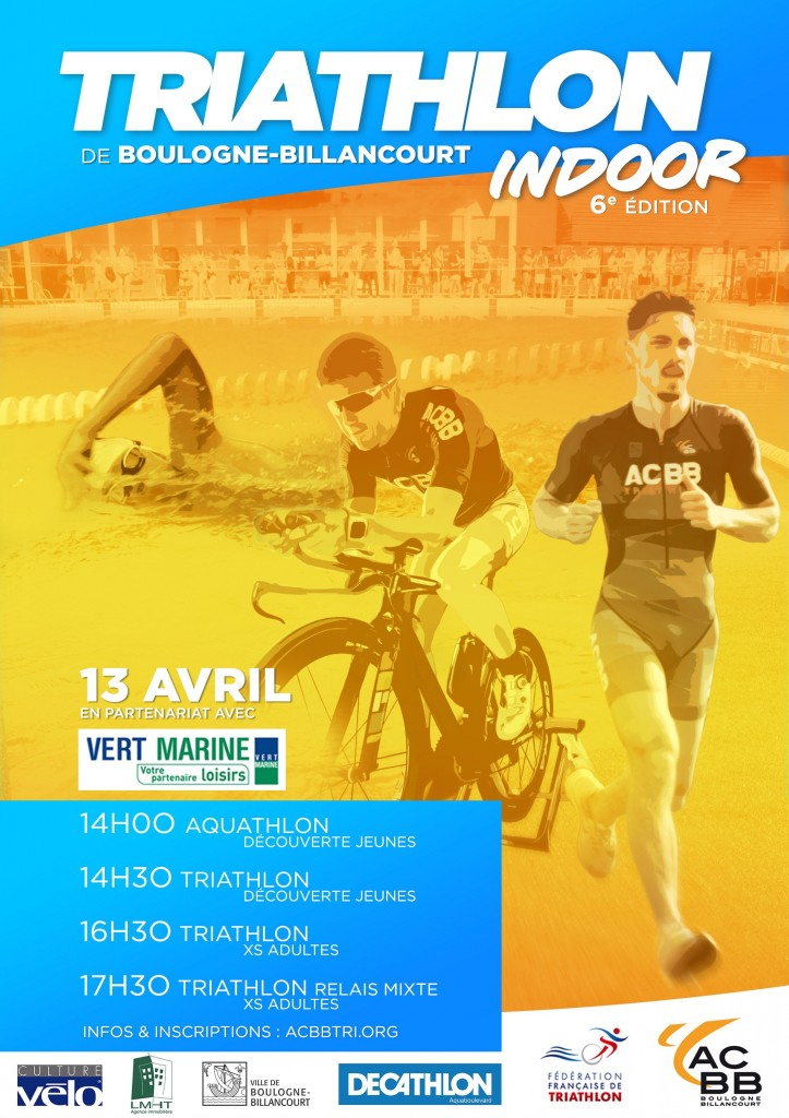 Affiche Triathlon Indoor 2019