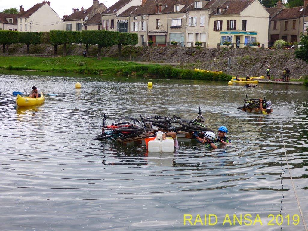 Franchissement de rivière au raid ANSA